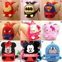 Ransel Boneka Karakter : Avengers, Mini Mouse, Doraemon, Hello Kitty