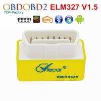 Newest Viecar Super Mini ELM327 Bluetooth V1.5 Yellow ELM 327 android