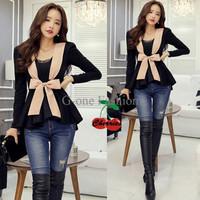 Jual [blus peach ribbon CR] blouse wanita katun rayon hitam Murah
