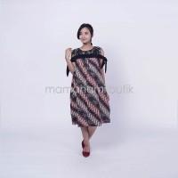 Jual Dress Hamil Batik Menyusui Sabrina Brokat Pita Zenia - BTK 151 Murah