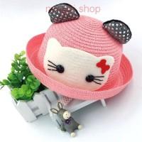 Jual Topi Laken Wanita Hello Kitty - Pink K453 Murah