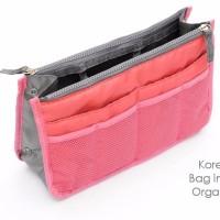 Jual STOK KAMI BATASI Korean Bag in Bag Organizer RED Gonta ganti tas jadi Murah