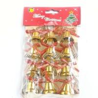 Jual gantungan pohon natal bentuk lonceng/ aksesoris natal Murah