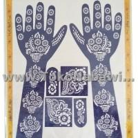 Cetakan Henna Tangan Full/Henna Arab Pengantin/Haji Umroh