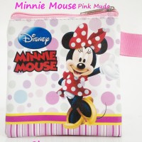 Jual Mini Wallet Minnie Mouse Pink Muda Dompet Koin Karakter Dompet Anak Murah
