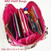 Jual Bank Book Organizer Motif Bunga Navy Tab 6 inch BBO Shabby Chic Murah