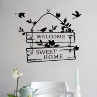 Jual Sticker Wallpaper Dinding Welcome Sweet Home - Black Murah