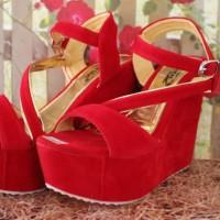 new IK sandal/sepatu Sandal Wanita Wedges Hak Tinggi WGHT22
