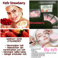 Jual SPESIAL PROMO Kefir Mask Strawberry Original by SYB - Masker Kefir Str Murah
