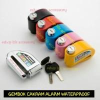 Jual Anti maling Gembok KUNCI CAKRAM ALARM system DISC LOCK Diskon Murah