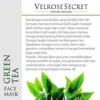 Jual BEST PRODUCT Lulur Wajah BPOM Velrose Secret Nature Organic GREEN TEA Murah