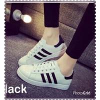 Jual Sepatu Cewek Keta list Putih-Hitam MG03 - GD 068 17 Murah
