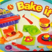 Jual Mainan Fun Doh / Playdoh / Fundoh Bake it Full Set Cetakan dan 3 Doh Murah