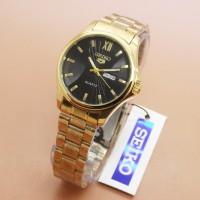 Jual BAS Jam Tangan Seiko 5 5985L Female Gold Plat Black 577 Murah