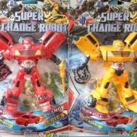 mainan tobot super change robot transformer optimus / bumble bee
