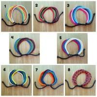 Jual gelang tali simpel panca warna lima warna warna warmi Murah