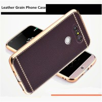 Softcase TPU Slim Kuat kaya Metal Leather Soft Case Cover Casing LG G5