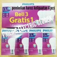 Jual LAMPU PHILIPS LED 13 WATT 13WATT 13W 13 W (1 paket 4 pcs) Murah