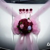 hiasan bunga mobil pengantin, dekorasi mobil wedding+ 4 bunga pintu 02