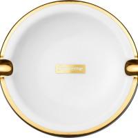 supreme gold trim ceramic ashtray