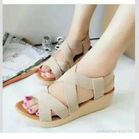 Sandal Karet Wanita Flat Shoes | Sepatu Sendal Cewek murah
