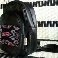 Jual tas wanita backpack mini tenun ethnic Murah