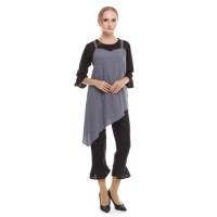 Jual TERLARIS Flare Sleeveless Top Dark Blue Jeans - M12327 HOT SALE Murah