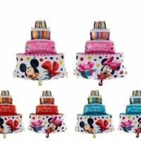 Jual Balon Foil Birthday Cake Mickey Minnie Berkualitas Murah