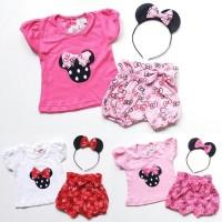 Jual Setelan Baju Anak Bayi Perempuan Minnie Mouse Celana Pe Murah Murah
