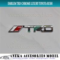 Jual Unik Emblem Tulisan TRD Chrome Luxury Toyota Rush MU-11S Harga Bagus Murah