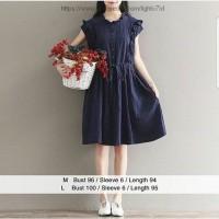Jual Riri mini dress navy / baju model korea / atasan wanita menyusui terla Murah