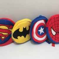 Jual hot RANSEL ANAK BULAT SUPERMAN BATMAN CAPTAIN AMERICA SPIDERMAN Murah