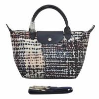 Longchamp Le Pliage Neo Fantaisie Polka Small Handbag - Navy