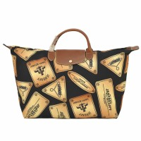 LONGCHAMP LE PLIAGE X JEREMY SCOTT TOTE TRAVEL BAG - GOLD PLATE
