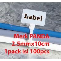 Jual Maker TIE PANDA 10cmx2.5mm Pengikat Kabel label /cable Ties Label name Murah