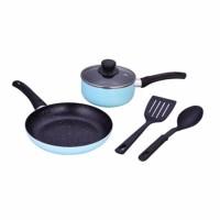 Jual (Murah) KANGAROO Panci Aluminium Cookware Set 5 Pcs Set KG-676 Murah