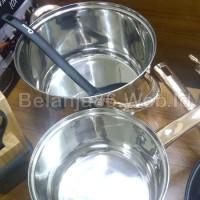 Jual (Sale) OX-777 Panci Oxone Rosegold Cookware Set + Knife Block Set Murah