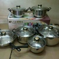 Jual (Sale) Stainless cookware / panci set vicenza V612 Murah
