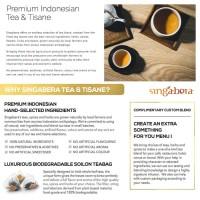 Jual Singabera Teh Premium Indonesia - Turmeric Ginger Tisane 1 tea bag Murah
