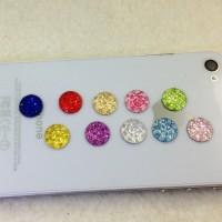 Jual stiker tombol home apple / apple home button diamond stickers  AHB001 Murah