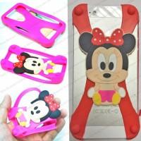 Jual Woman Smarphone Silicone Bumper Case Kesing Silikon Motif Minnie Mouse Murah