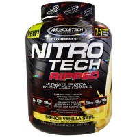 Terlaris Muscletech MT NitroTech Ripped 4lbs Nitro Tech Whey Protein