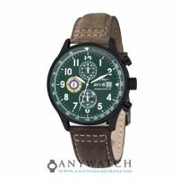 AVI 8 Man Hawker Hurricane Watch Green Dial Brown Leather AV 4011 05