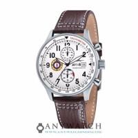 AVI 8 Man Hawker Hurricane Watch White Dial Brown Leather AV 4011 01