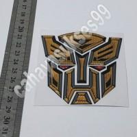 Jual Sticker MOTOR Timbul Autobot Transformer GOLD 8,5cm Stiker Emblem NEW Murah