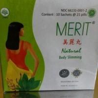Jual MERIT natural body slimming pelangsing alami isi 10 sachet @ 21 pill Murah