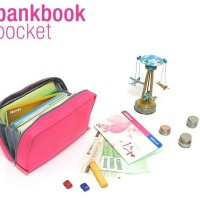 Jual PROMO bank book dompet organizer buku tabungan uang kertas logam hhm0 Murah