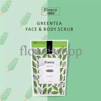 Jual EXCLUSIVE fleecy face n body scrub green tea original TERJAMIN Murah