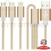 Jual charger kabel data 3 in 1 micro usb type c iphone 5 6 charging android Murah