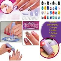 Jual Salon Express Nail Art Stamping Kit - Alat Penggambar Kuku Murah